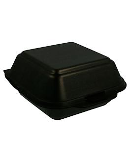 caixa hamburguesa 15x15x7 cm negre pse (500 unitat)