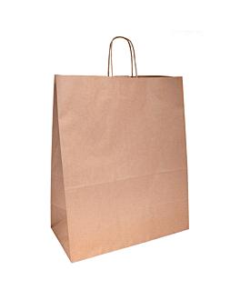 sacos sos com asas 100 g/m2 40+20x48 cm natural kraft (150 unidade)