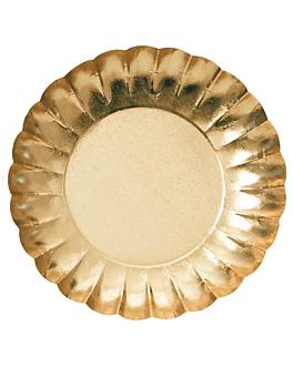 pratos 475 g/m2 Ø25 cm dourado cartÃo (250 unidade)