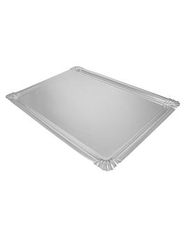 vassoio 600 g/m2 34x45,5 cm argento cartone (90 unitÀ)