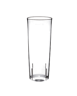 injected long drink glasses 300 ml Ø 5,9x15,2 cm clear cristal ps (500 unit)