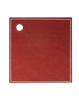 12 u. torchons en rouleau 'cubi-drap' 40x40 cm bordeaux coton (1 unitÉ)