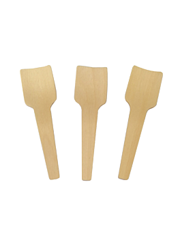 ice-cream spoons 7 cm natural wood (2000 unit)