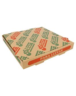 corrugated eco-friendly pizza boxes 350 gsm 26x26x3,5 cm natural cardboard (100 unit)