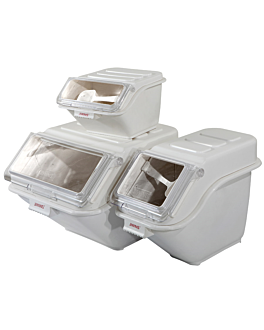 contenitore da stoccaggio 20 l 59,3x29x43,2 cm bianco pp (1 unitÀ)