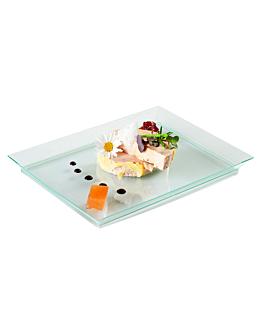 trays 13x18x1,6 cm sea green ps (80 unit)