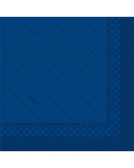 """serviettes """"quattro"""" ecolabel 4 plis 21 g/m2 45x45 cm bleu marine ouate (750 unitÉ)"""