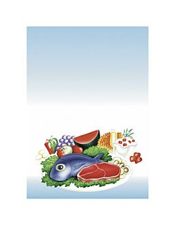 """portadas din-a4 """"comidas"""" 21x29,7 cm azul papel (50 unid.)"""