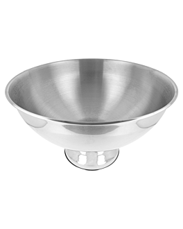 champagne ice bowl Ø 39,5 cm silver stainless steel (1 unit)
