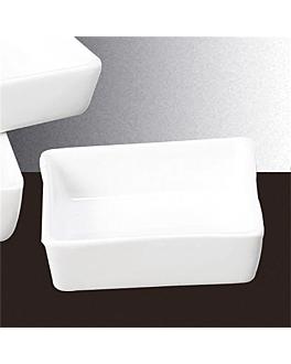 rÉcipients carrÉs 7,5x7,5 cm blanc porcelaine (12 unitÉ)
