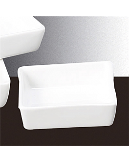 square dishes 7,5x7,5 cm white porcelain (12 unit)