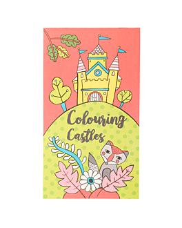"""colouring pads """"castles"""" 100 gsm 12,5x22 cm four coloured cellulose (100 unit)"""