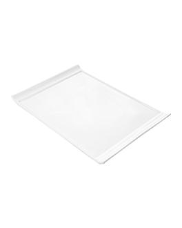 platos rectangulares 40x28x2,1 cm blanco porcelana (6 unid.)