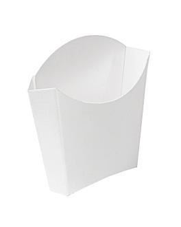 cajetillas fritas standard 'thepack' 135 g 230 g/m2 13x8x13,5 cm blanco cartÓn ondulado nano-micro (1200 unid.)