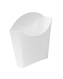 chip boxes standard 'thepack' 135 g 230 gsm 13x8x13,5 cm white nano-micro corrugated cardboard (1200 unit)