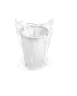 vasos enfundados 360 ml 300 + 18 pe g/m2 Ø9/6x11 cm blanco cartoncillo (1000 unid.)