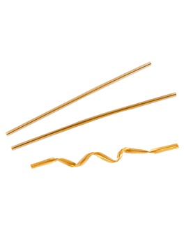 nastri chiudi sacchetti 9,5 cm oro metal (100 unitÀ)