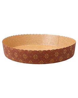 moules ronds cuisson pÂtisserie Ø 18,5x3,5 cm marron papier (480 unitÉ)