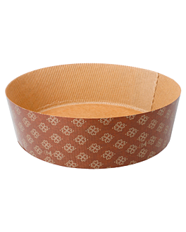 shallow panettone cooking molds Ø 22x7 cm brown paper (360 unit)