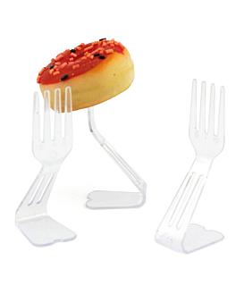 fork stand 2,2x3x7 cm transparent ps (1152 einheit)