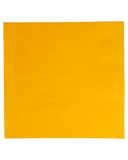 serviettes ecolabel 2 plis 18 g/m2 39x39 cm jaune soleil ouate (1600 unitÉ)