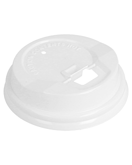 high dome lids for cups 120 ml white ps (1000 unit)