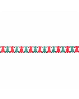 guirnalda navidad 15,25x250 cm (1 unid.)