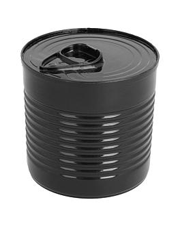 boÎtes de conserve 220 ml Ø 7,4x7 cm noir ps (100 unitÉ)