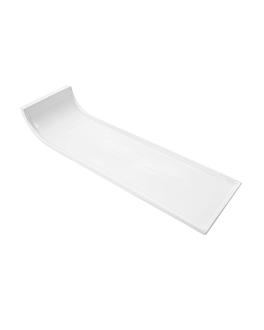 assiettes rectangulaires 36x11x6,7 cm blanc porcelaine (4 unitÉ)