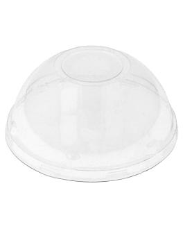 tapas cÚpula para recipientes 206.08/09/11/25/26/27 Ø 8,5 cm transparente pet (100 unid.)