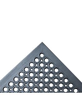 zerbino antifatica 'drainage' 152,4x91,4x1,2 cm nero gomma (1 unitÀ)