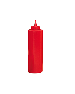 squeeze dispensers 720 ml Ø 7x24,2 cm red pehd (6 unit)