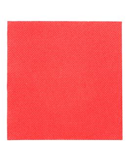 serviettes ecolabel 'double point' 18 g/m2 20x20 cm rouge ouate (2400 unitÉ)