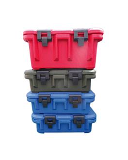 conteneur isotherme gastronome 1/1 34 l 64x45x30 cm rouge plastique (1 unitÉ)
