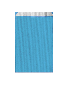 sacchetti piani unicolore 60 g/m2 26+9x46 cm blu turchese cellulosa (250 unitÀ)