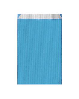 bolsas planas unicolor 60 g/m2 26+9x46 cm azul turquesa celulosa (250 unid.)