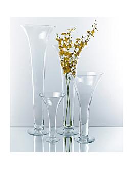 """decoraciÓn gigante """"florero"""" Ø 25,5x47 cm transparente cristal (1 unid.)"""