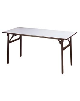 tables rectangulaires pliables 183x91,5x76 cm noir acier (2 unitÉ)