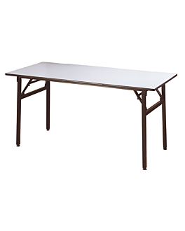 tavoli rettangolari pieghevoli 183x91,5x76 cm nero acciaio (2 unitÀ)