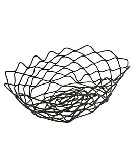 basket ovale 24x15,2x7 cm noir acier (1 unitÉ)