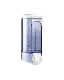 distributeur de savon 800 ml 25x9,5x9,5 cm transparent abs (1 unitÉ)