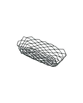 basket retangular 25,5x12,5x6 cm preto aÇo (1 unidade)