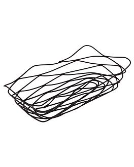 basket rectangulaire 25,5x12,5x6 cm noir acier (1 unitÉ)