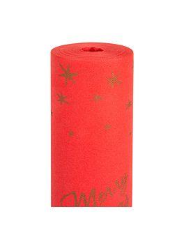 """mantel de mesa """"tu y yo"""" (20 servicios) 'merry christmas' 55 g/m2 0,40x24 m rojo airlaid (6 unid.)"""