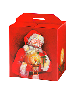 30 u. cajas botellas/otros 'papa noËl' 33x25x35 cm rojo cartÓn (1 unid.)
