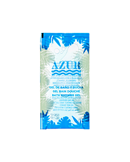 sachets gel bain 'azur' 10 ml 10x5 cm transparent pet (1000 unitÉ)