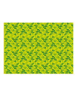 """manteles """"garden"""" 48 g/m2 80x120 cm verde celulosa (250 unid.)"""