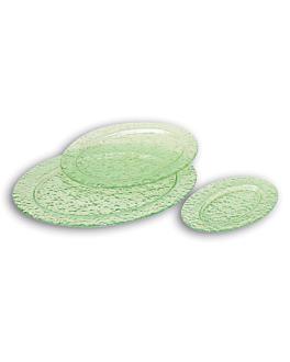 platos ovalados 31x40 cm verde agua cristal (12 unid.)