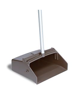dustpan without lid + handle 27,5x30x94 cm black pp (1 unit)