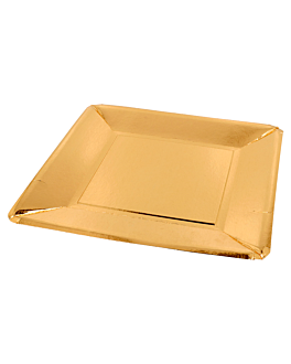 square plates 405 g/m2 25x25 cm gold cardboard (200 unit)